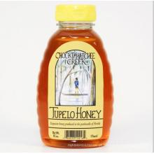 Plástico transparente (PET) abelhas Honey Bee garrafa W / amarelo Cap (PPC-PHB-74)