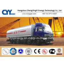 Chemical Lox Lin Lar Lco2 LNG Fuel Tank Car Semi Trailer with ASME