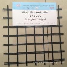 Asphalt Coated Reinforcement Biaxial Fiberglass Geogrid
