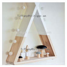 Colorful plastic floating triangle style wall shelf