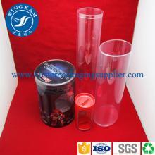 Emballage de conteneur personnalisé cylindre Transparent