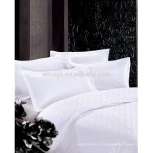 Ensemble de drap housse de lit jacquard luxueux de luxe 4 pièces 250T 300T