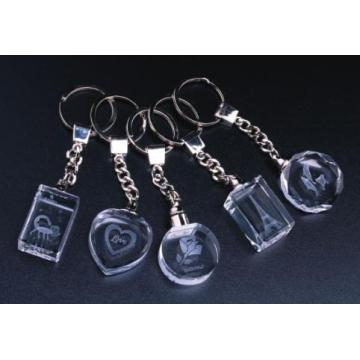 Populärer Kristall 3D LED Keychain (JD-YSK)