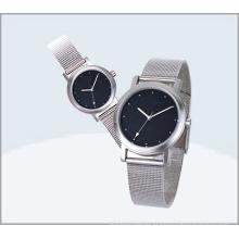 Relógio de aço inoxidável dos pares, relógio 15177 do amante de quartzo
