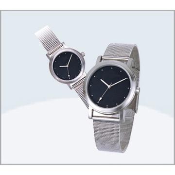 Stainless Steel Couple Watch, Quartz Lover Watch 15177