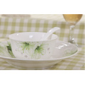 Haonai designed beautiful bone china dinner set