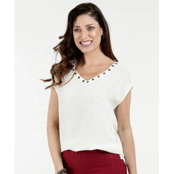 Summer ladies sleeveless tops elegant women shirts