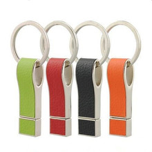Creative Leather Usb Flash Drive with Key Chain