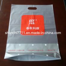 Bolsa de plástico de perforación impresa con corte a media transparencia