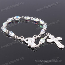 Hot Sale Silver Transparent 4*6 Drop Crystal Chaplet