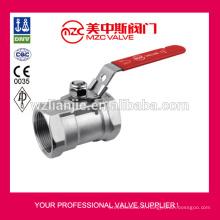 Robinets à boisseau sphérique en acier inoxydable 1pc fileté extrémités 1000psi 1PC robinet à boisseau sphérique