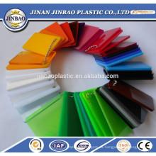 hojas cambiantes del color de acrílico claro / coloreado de la mejor calidad al por mayor