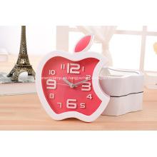 Reloj de alarma con forma de manzana promocional