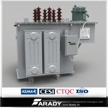 Régulateur de tension automatique monté sur poteau à 3 étages à sres de l'émetteur