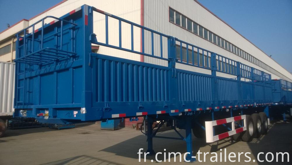 Lf Dangote Tri Axle Fence Semi Trailer