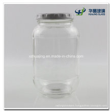 400ml 12oz Cylinder Pickle Glass Jar with Metal Lid