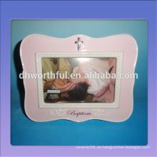 Marco decorativo de bebé de cerámica para el primer año de recuerdo