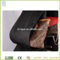 Hanging fabric handbag storage organizer with metal hanger