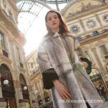 Winter Overcoat Mink Cross Fur Overcoat Wanita