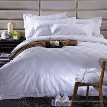 Satin Check Hotel Algodão Bedding Set com Set Consolador (WS-2016030)
