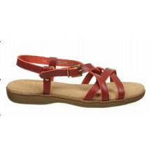 Sandalias de tiras casuales de cuero del guardarropa del clima caliente