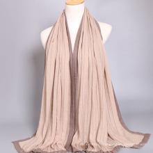 Gros coton cape bohème femmes écharpe musulmane hijab