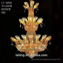 Große Kristall Fünf-Sterne Hotel Lobby Kronleuchter Beleuchtung für hohe Decken