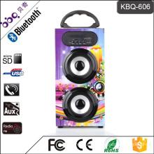 BBQ KBQ-606 10W 1200mAh Pro Audio Concert Wooden DJ Loudspeaker Box