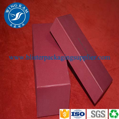 red luxury paper packaging box,