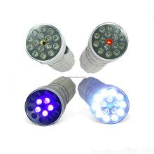 Mini 16PCS AAA Bateria UV LED Lanterna
