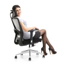 Bon prix chaise de bureau moderne avec base en chrome