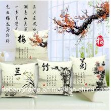 El elegante sofá de estilo chino / silla de oficina de almohada de algodón cojín de lino