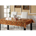 PVC Printed Tablecloth with Embossed Grain for Home/Party Use