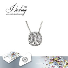 Destiny Jewellery Crystal From Swarovski Necklace Round Pendant
