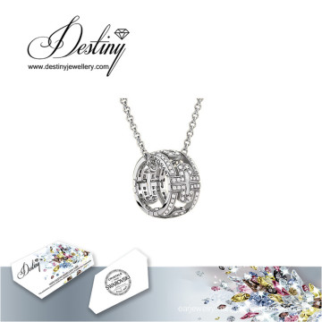 Destiny Jewellery Crystal From Swarovski Necklace Round Pendant