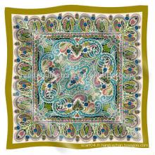 Écharpe de soie musulmane de qualité supérieure mais bon marché Paisley Design