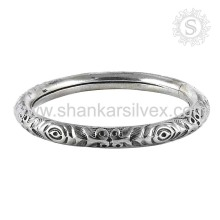 Engrave Design Handmade Silver Jewelry Bangle 925 Silver Jewelry Manufacture