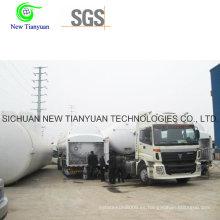 Criogénico 30-68m3 Capacidad de carga Liquifying LPG Tank Container Semi-Trailer