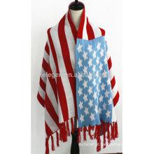 América Padrão Bandeira Acrílico Inverno cachecol Xaile