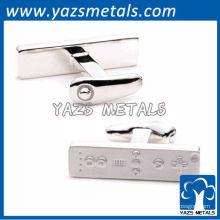 personalizar abotoaduras de metal, abotoaduras com forma especial de alta qualidade especiais com logotipo