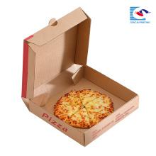 caixa de pizza de papelão ondulado personalizado com logotipo próprio