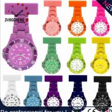 Силиконовые Медсестра Резиновые пластиковые Японии Движение Кварцевые часы (DC-1158)
