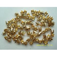 Oro metal brads artesanía de metal brads clavija en el precio bajo