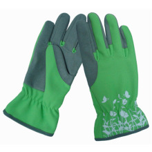 Promoción cuero sintético de alta calidad mujer guantes de jardinería