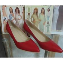 Moda meados de salto alto apontou toe sapatos de vestido (hcy02-1080)