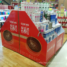 Double Sides Supermarket Cardboard Pallet Display for Cups
