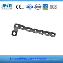Implant orthopédique osseux en métal T Plaquette rectangulaire