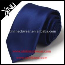 À sec seulement 100% fait à la main en polyester jacquard tissé bleu marine cravate
