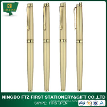Top Quality Luxury Golden Metal Barrel Roller Tip Pen For Giftware