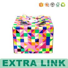 Boîtes décoratives de gâteau d'emballage de carton avec la fenêtre en plastique
